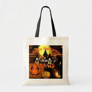 Personalisierte glückliche Halloween-Tasche Tragetasche