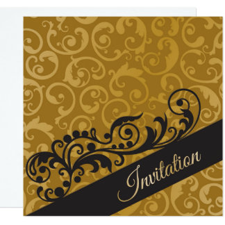 Personalisierte Goldschwarz-Geburtstags-Party Karte