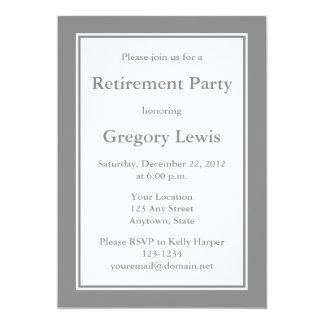 Personalisierte graue Einladungen oder