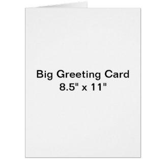 Personalisierte große Gruß-Karte Riesige Grußkarte