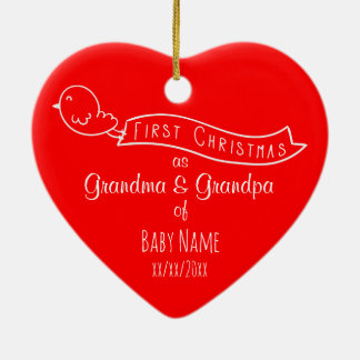 Personalisierte Großeltern-erste Keramik Ornament