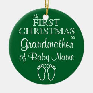 Personalisierte Großmutter-erste Keramik Ornament