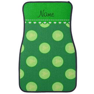 Personalisierte grüne Gurkennamensscheibe Automatte