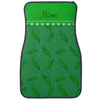 Personalisierte grüne Namenspeapods Automatte