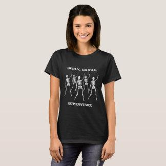 Personalisierte Halloween-Gruppe-Aufsichtskraft T-Shirt