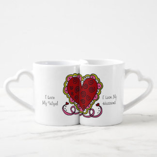 Personalisierte Herzen und Liebe-Liebhaber-Tassen Liebestassen