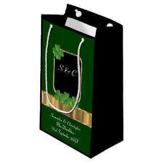 Personalisierte Hochzeit des grünen irischen Kleine Geschenktüte