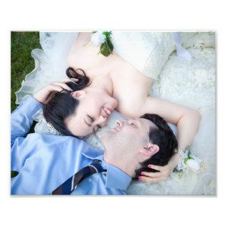 Personalisierte Hochzeit Fotodruck