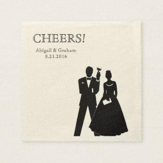 Personalisierte Hochzeits-Cocktail-Servietten Servietten