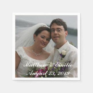 Personalisierte Hochzeits-Foto-Servietten Servietten