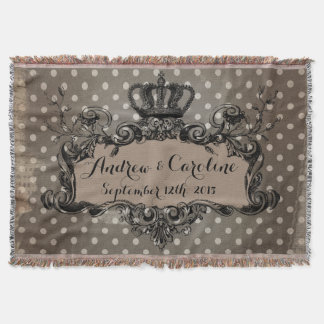 Personalisierte Hochzeits-königliche Krone auf Decke