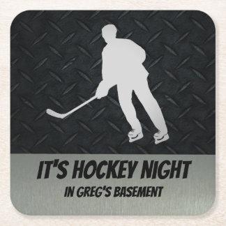 Personalisierte Hockey-NachtUntersetzer für Rechteckiger Pappuntersetzer