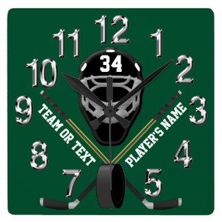 Personalisierte Hockey-Uhr, Ihre FARBEN und TEXT Uhren