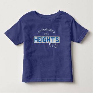 Personalisierte Houston-Höhen blau u. weißes Kleinkind T-shirt