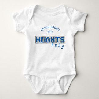Personalisierte Houston-Höhen blau und weiße Baby Strampler