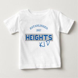 Personalisierte Houston-Höhen-Kinderfliesen Baby T-shirt