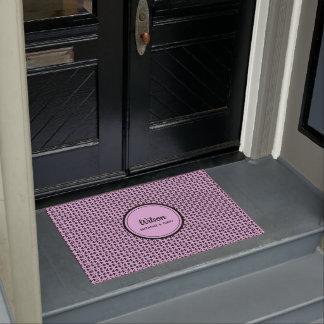 Personalisierte hübsche rosa geometrische Webart Türmatte