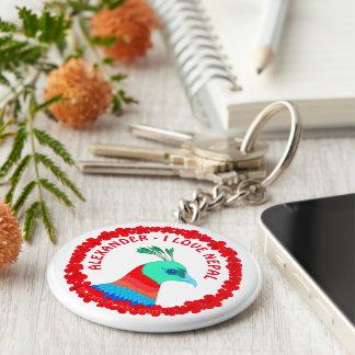 Personalisierte I Liebe Nepal des Schlüsselanhänger