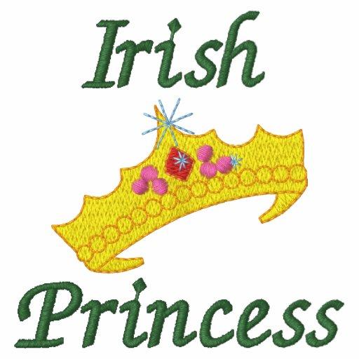Personalisierte irische Prinzessin Embroidered
