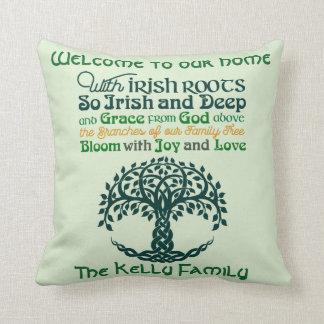 Personalisierte irische Wurzeln Kissen