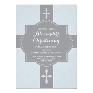 Personalisierte Jungen-Taufe, Taufe-Einladung 11,4 X 15,9 Cm Einladungskarte