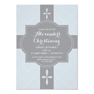 Personalisierte Jungen-Taufe, Taufe-Einladung Karte