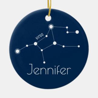 Personalisierte Jungfrau-Konstellations-Verzierung Keramik Ornament