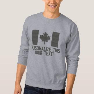 Personalisierte kanadische Flaggen-Stickerei Besticktes Sweatshirt