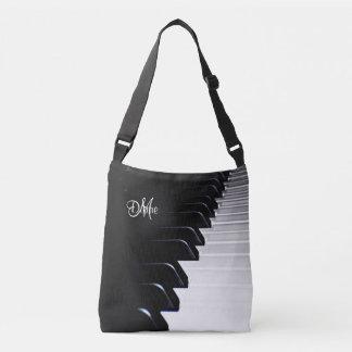 Personalisierte Klavier-Musik-Taschen-Tasche Tragetaschen Mit Langen Trägern
