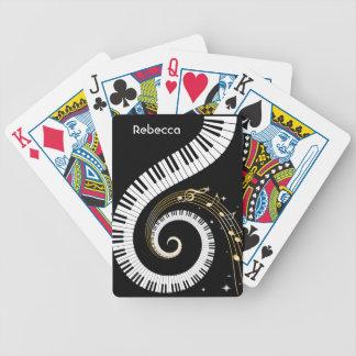 Personalisierte Klavier-Schlüssel und Pokerkarten