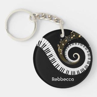 Personalisierte Klavier-Schlüssel und Schlüsselanhänger