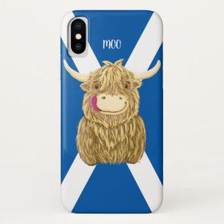 Personalisierte kleine Hamish Hochland-Kuh iPhone X Hülle