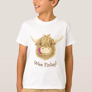 Personalisierte kleine Hamish Hochland-Kuh T-Shirt