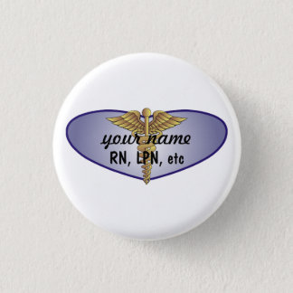 Personalisierte Krankenschwester Runder Button 3,2 Cm