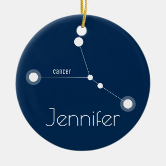 Personalisierte Krebs-Konstellations-Verzierung Keramik Ornament