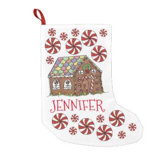 Personalisierte Lebkuchen-Haus-Weihnachtsminzen Kleiner Weihnachtsstrumpf