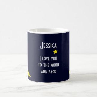 Personalisierte Liebe der Tassen-I Sie zum Mond