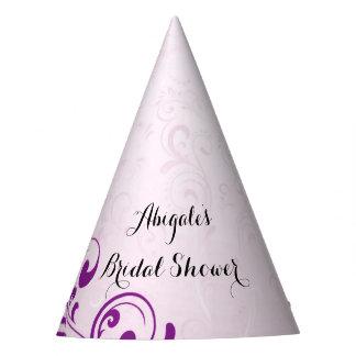 Personalisierte lila Brautparty-Party-Hüte Partyhütchen