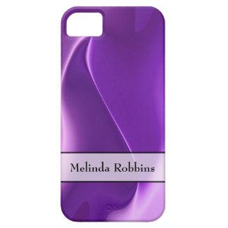 Personalisierte lila Flamme abstrakt iPhone 5 Schutzhüllen
