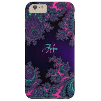 Personalisierte lila Fraktal iPhone 6 Plusfall Tough iPhone 6 Plus Hülle