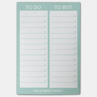 Personalisierte Liste zum zu tun, - aquamarines Post-it Klebezettel