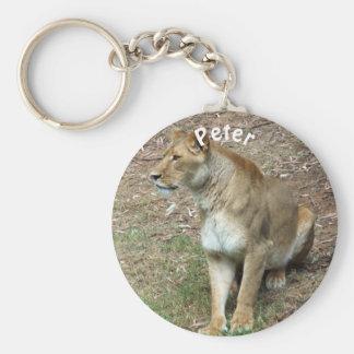 Personalisierte Löwin Schlüsselanhänger