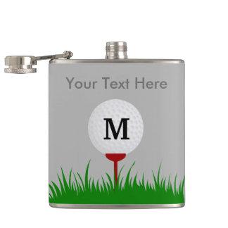 Personalisierte Monogramm-Golf-Ball-Flasche Flachmann