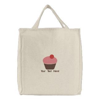 Personalisierte/Monogramm-kleiner Kuchen gestickte Leinentaschen