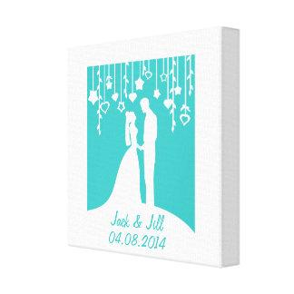 Personalisierte Namen u. Datum des Hochzeits-Jahre Gespannte Galerie Drucke
