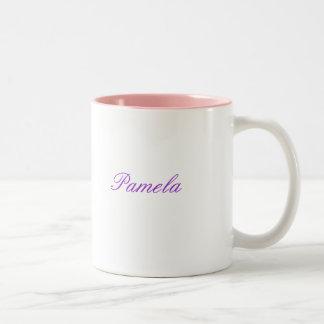 Personalisierte Namensschale Zweifarbige Tasse