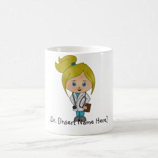 Personalisierte niedliche Dame Doktor Mug - Tasse