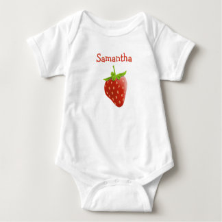 Personalisierte niedliche Erdbeereinteiliges Baby Strampler