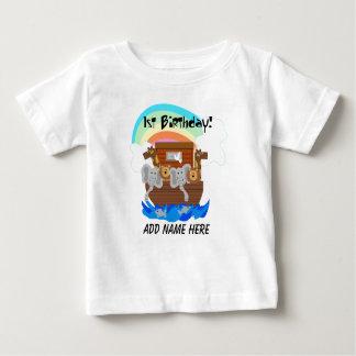 Personalisierte Noahs Arche-1. Geburtstags-T-Shirt