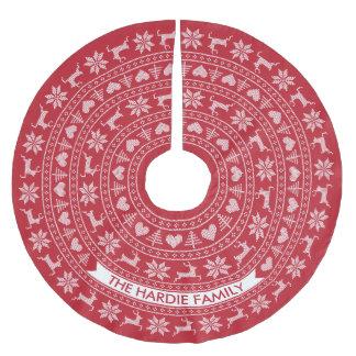 Personalisierte nordische Auswahl der Polyester Weihnachtsbaumdecke